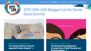 Click for the feed of Blogger Fellow posts about the Social Good Summit