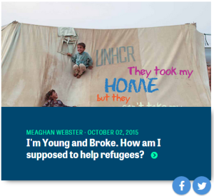 Click to read my post for the UN Association on how young people can help refugees