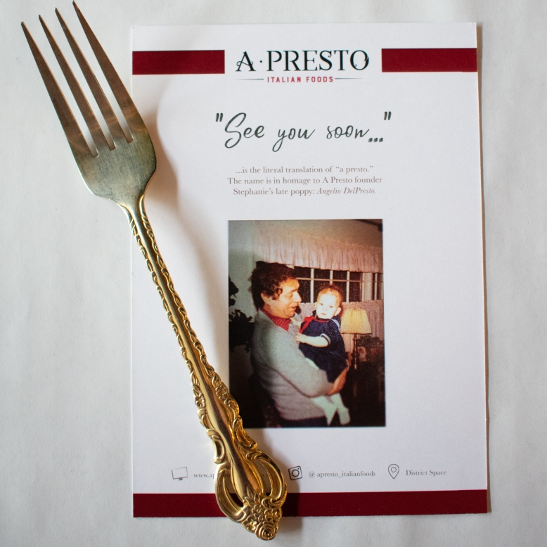 Menu Design at A Presto Italian Foods' Pop-up Dinner Event | Washington, DC Event Photographer
