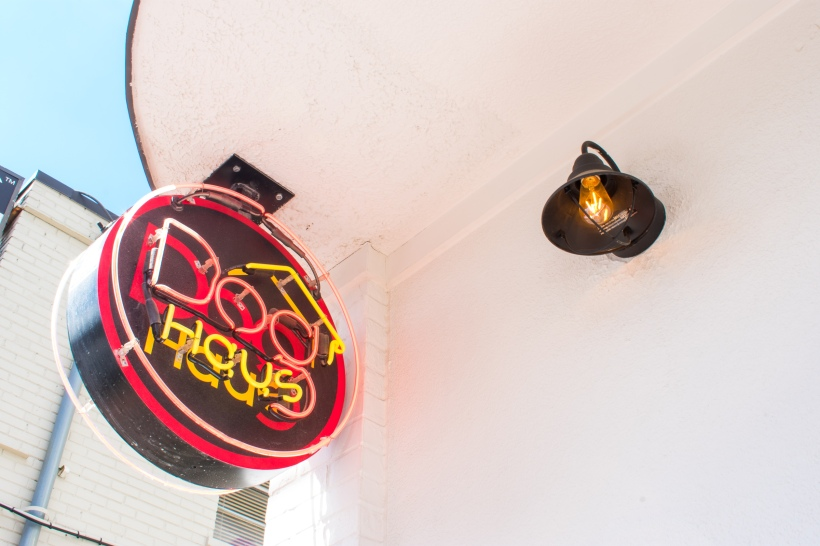 Dog Haus Bethesda Maryland Exterior Photography: Sign