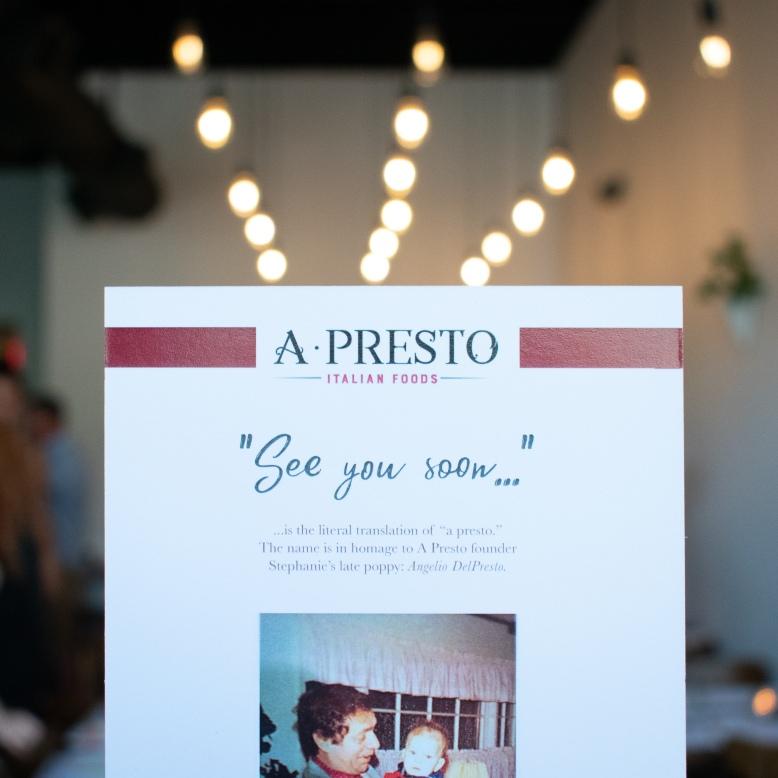 Menu Design at A Presto Italian Foods' Pop-up Dinner Event   Washington, DC Event Photographer