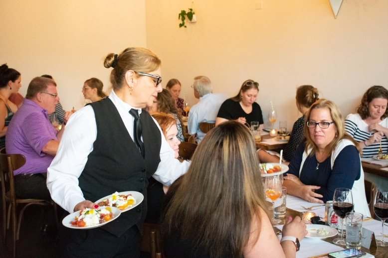 Food being served at A Presto Italian Foods' Pop-up Dinner Event | Washington, DC Event Photographer
