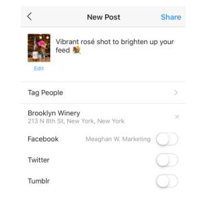 Instagram Autopost Example